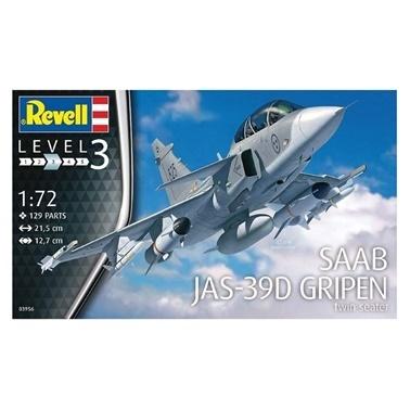 Revell Revell Maket 1:72 Saab JAS-39D  Renkli